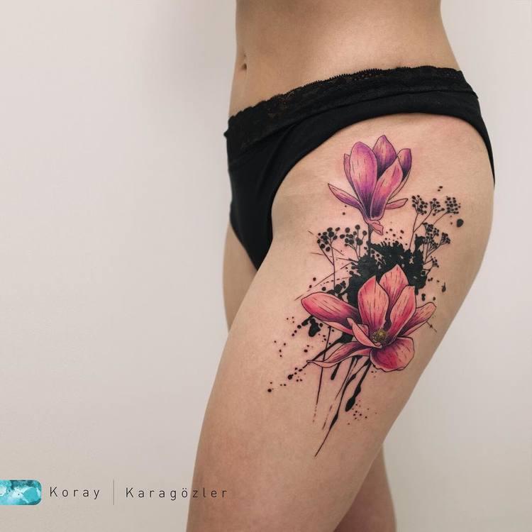Magnolia Tattoo by koray_karagozler