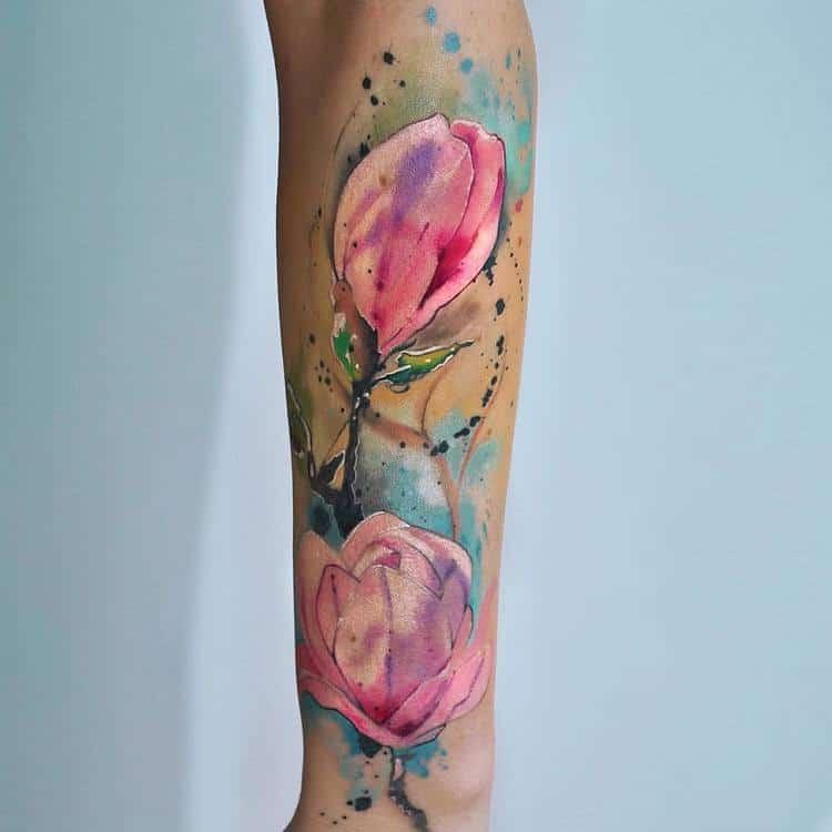 Magnolia Tattoo by dopeindulgence