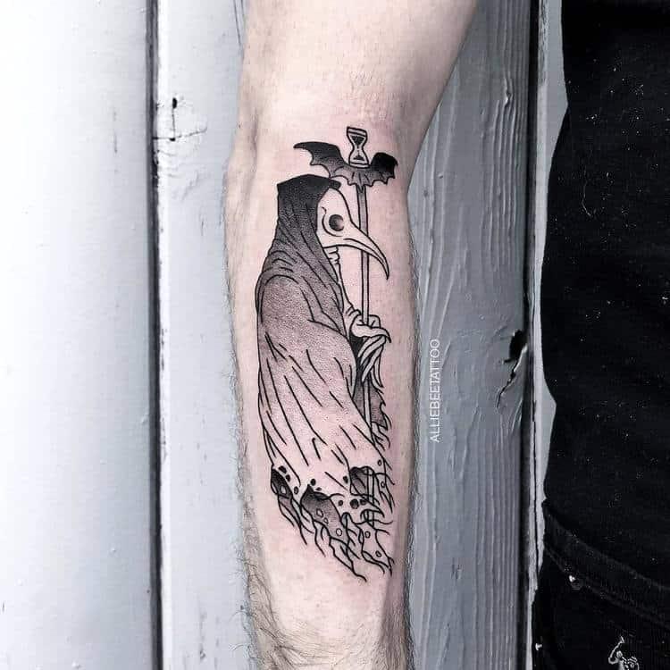 Plague Doctor Tattoo by alliebeetattoo