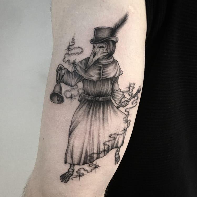 Plague Doctor Tattoo by mongotattoo