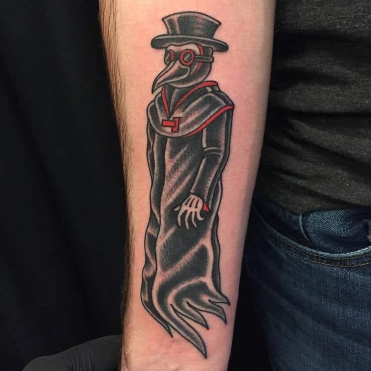 Plague Doctor Tattoo by alexdoucettetattoos