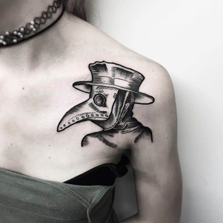 33 Obscure Plague Doctor Tattoo Designs