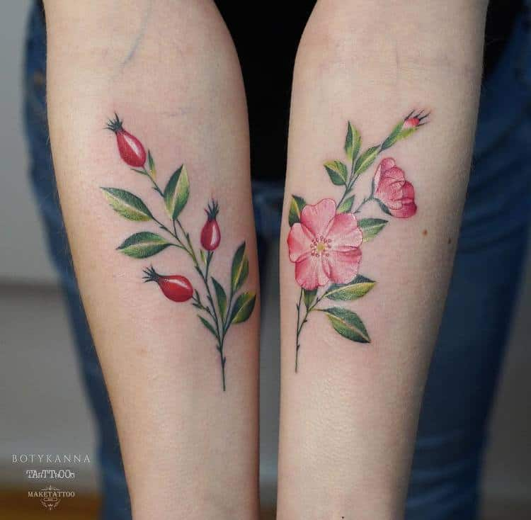 Botanical Tattoos by Anna Botyk