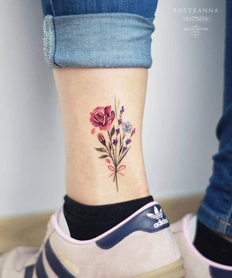 Floral Bouquet Tattoo by Anna Botyk