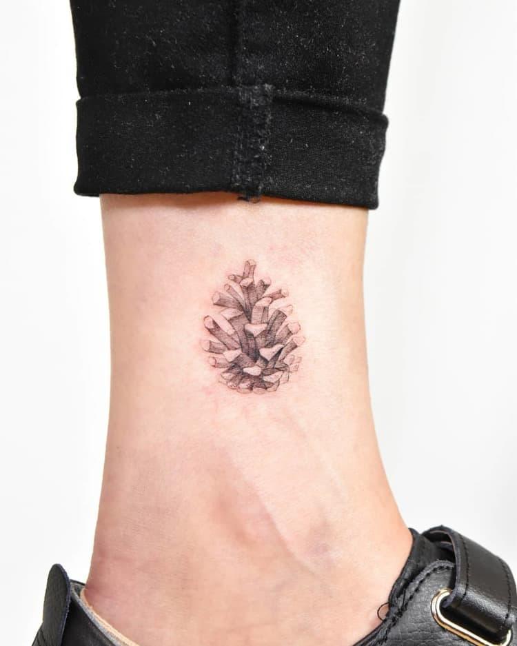 Pine Cone Tattoo by azaktattooer