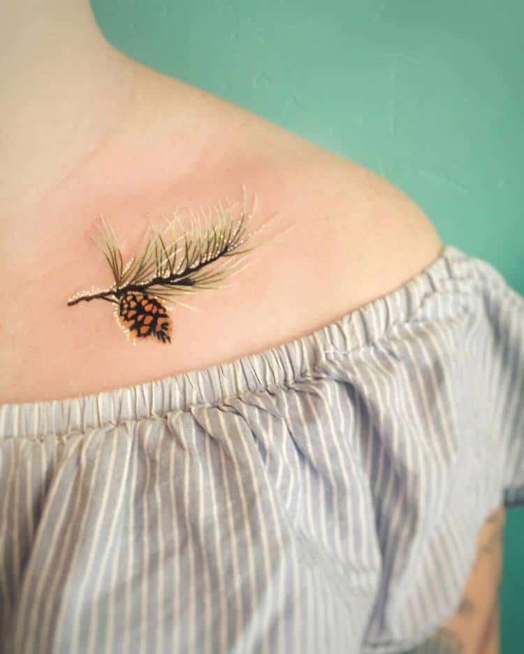 Pine Cone Tattoo by briana_buju_tattoo