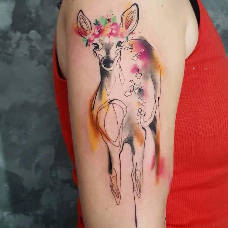 Doe Tattoo by Simona Blanar