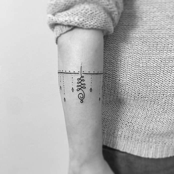 Unalome Tattoo by tattoogirona