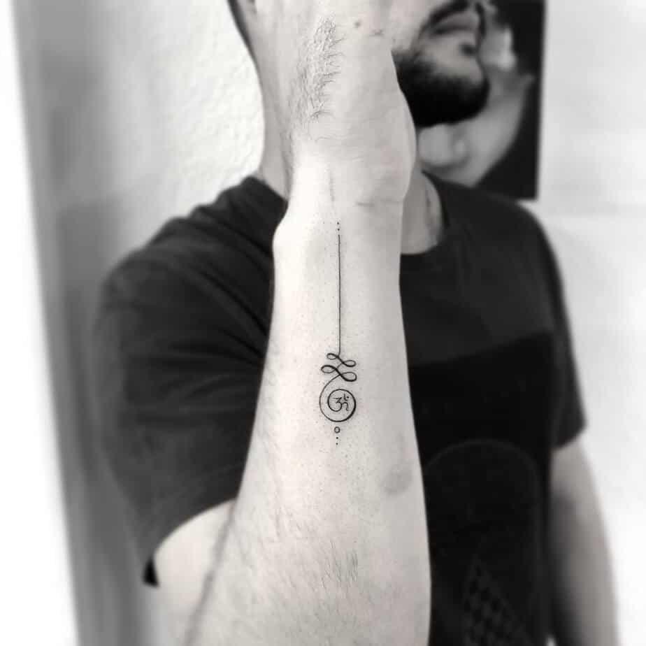 Unalome Tattoo by jk_tattooing