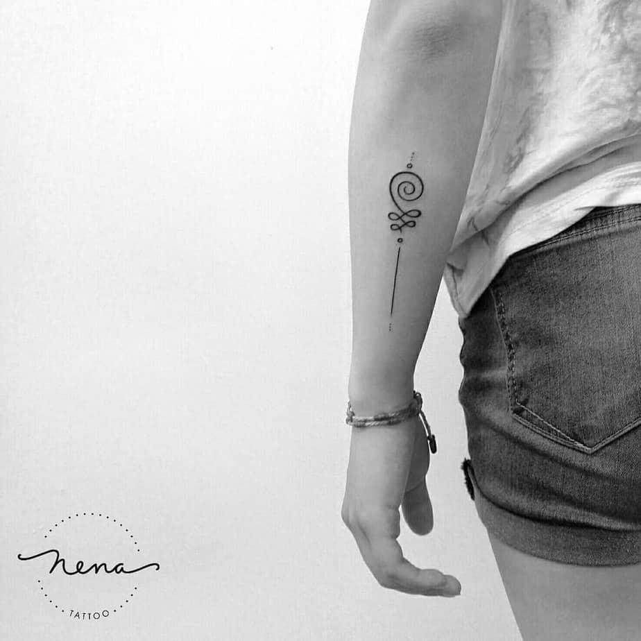 Unalome Tattoo by nena_tattoo