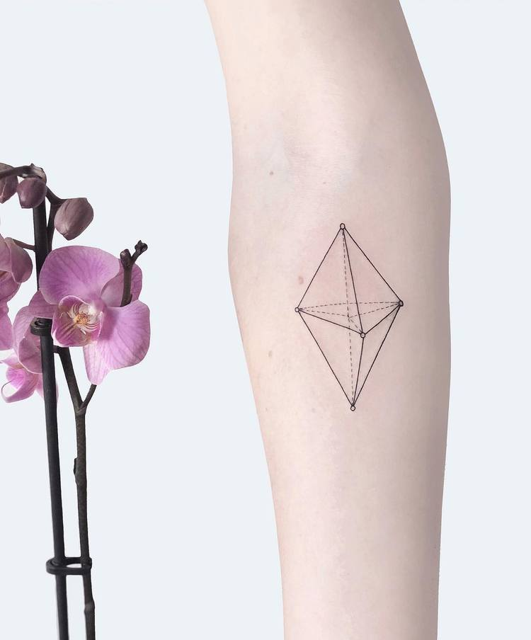 Geometric Tattoo Design by Laura Martinez