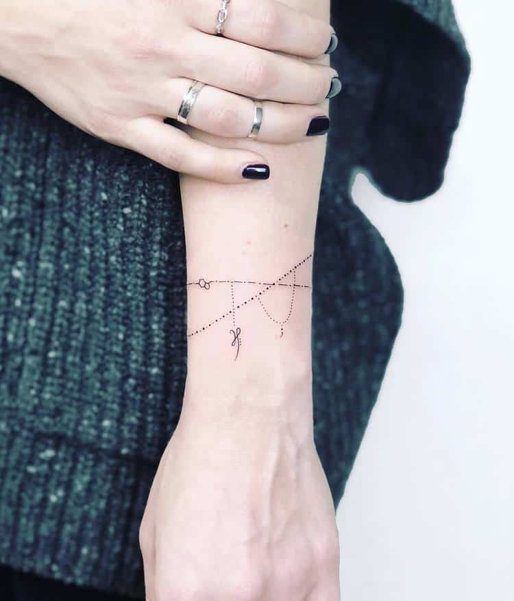 Geometric Bracelet Tattoo by Laura Martinez