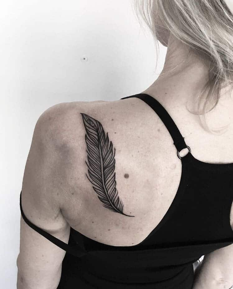 Feather Tattoo by bunkertattoo