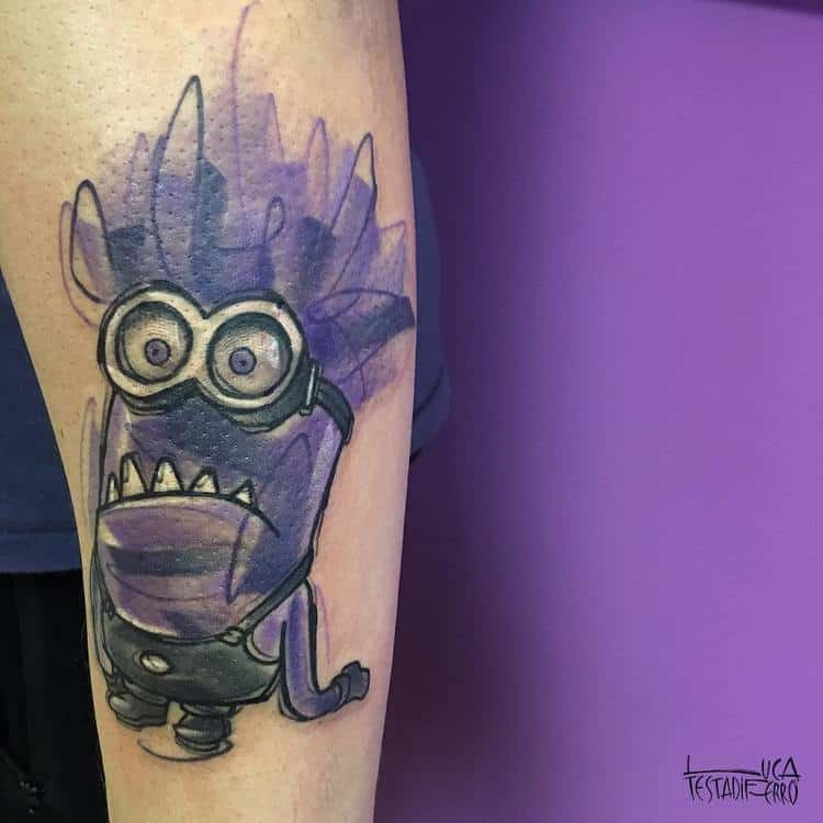 Evil Minion Tattoo by Luca Testadiferro
