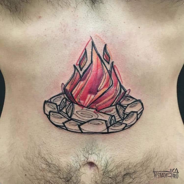 Fire Tattoo by Luca Testadiferro