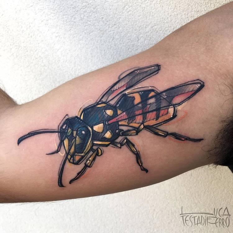 Wasp Tattoo by Luca Testadiferro