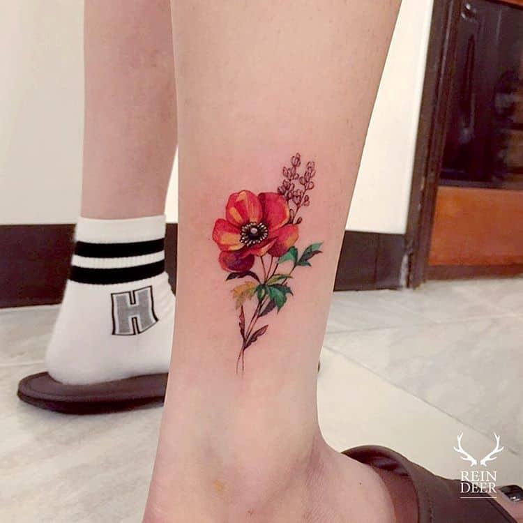 Anemone Tattoo by zihwa_tattooer