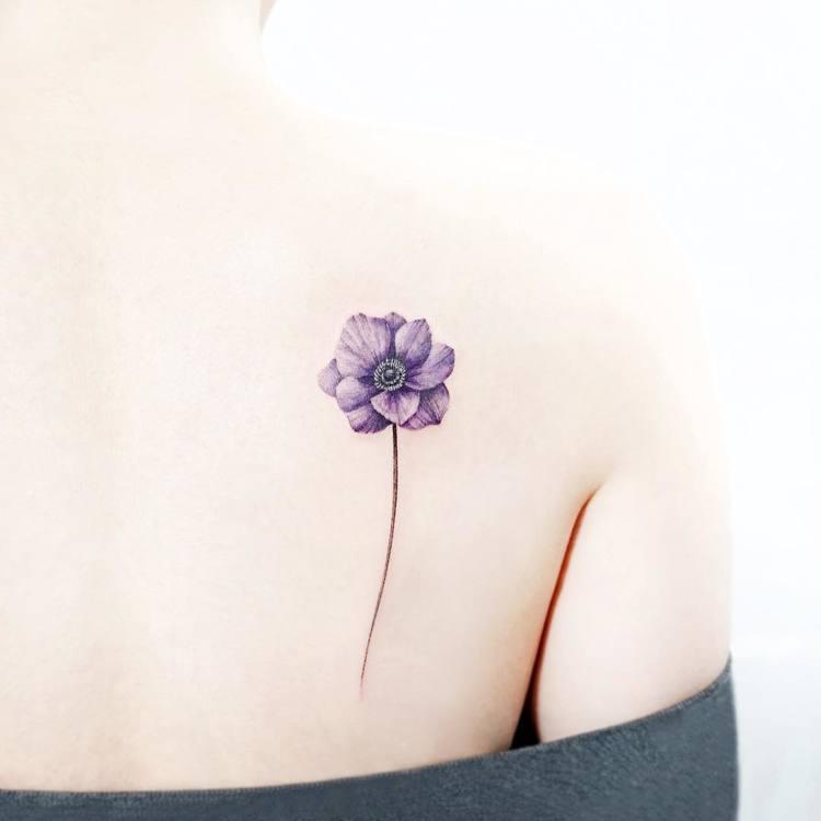 Anemone Tattoo by tattooist_ida