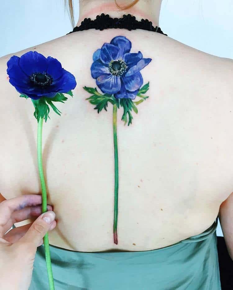 Anemone Tattoo by rit.kit.tattoo