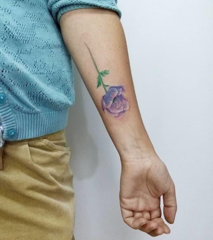 Anemone Tattoo by galya_dyomina