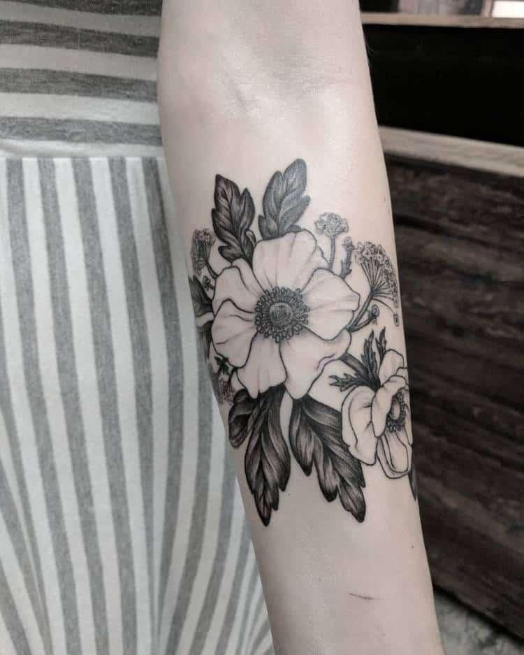 Anemone Tattoo by sierra_argyle