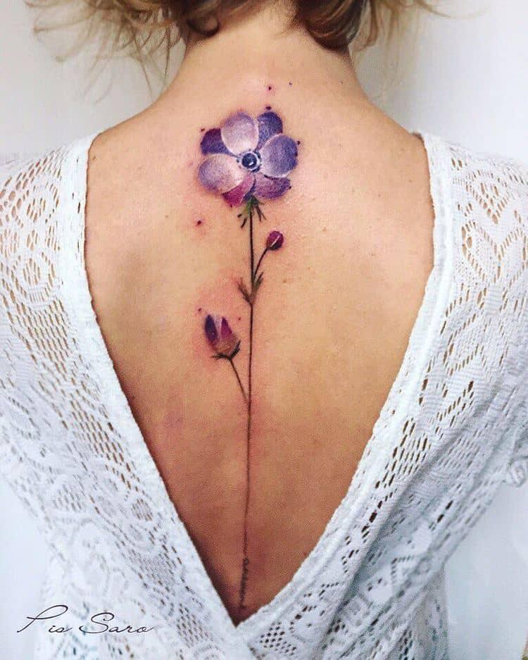 Anemone Tattoo by pissaro_tattoo