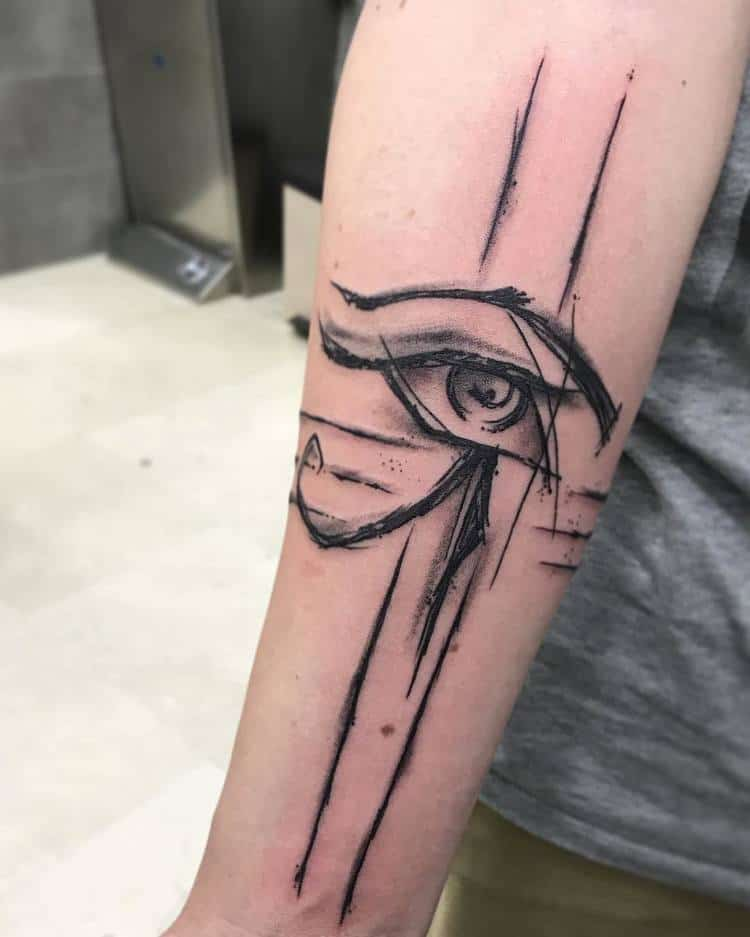 Sketchy Eye of Horus Tattoo by trixtattoostudio
