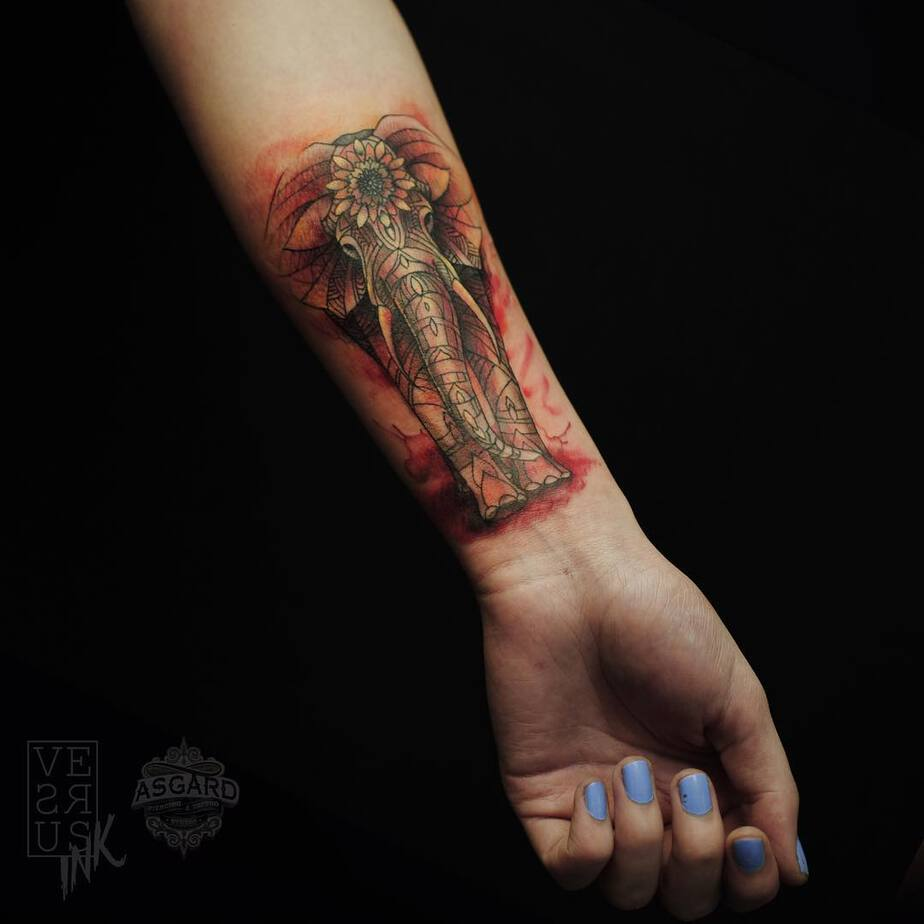 Elephant Tattoo by versusink