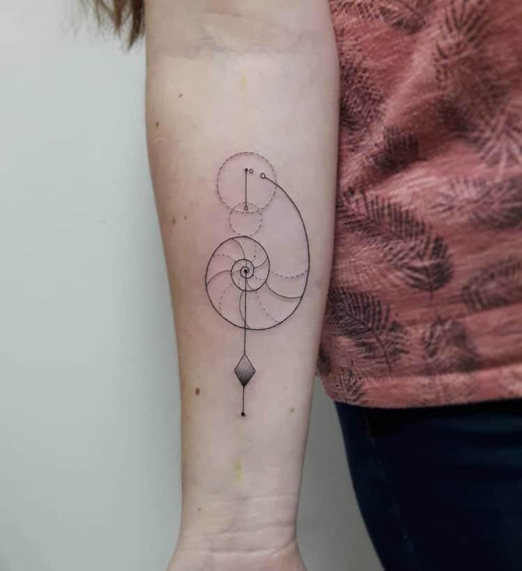 Fibonacci Tattoo by geometria_bizarra