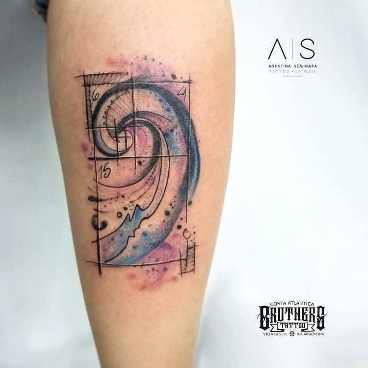 Fibonacci Tattoo by agustina.seminara
