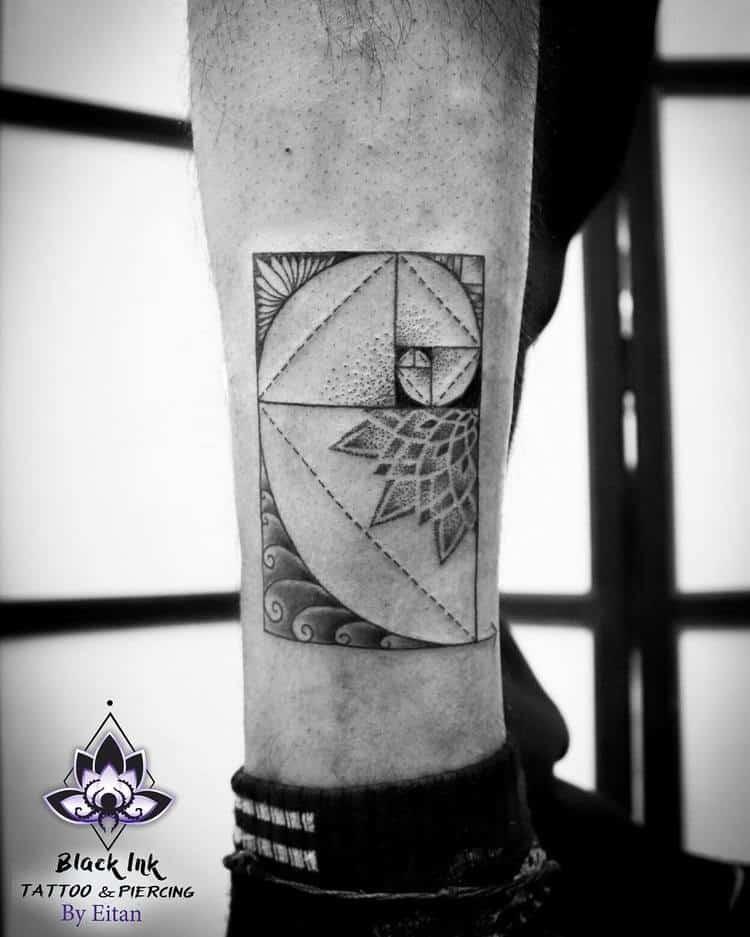 Fibonacci Tattoo by eitanart