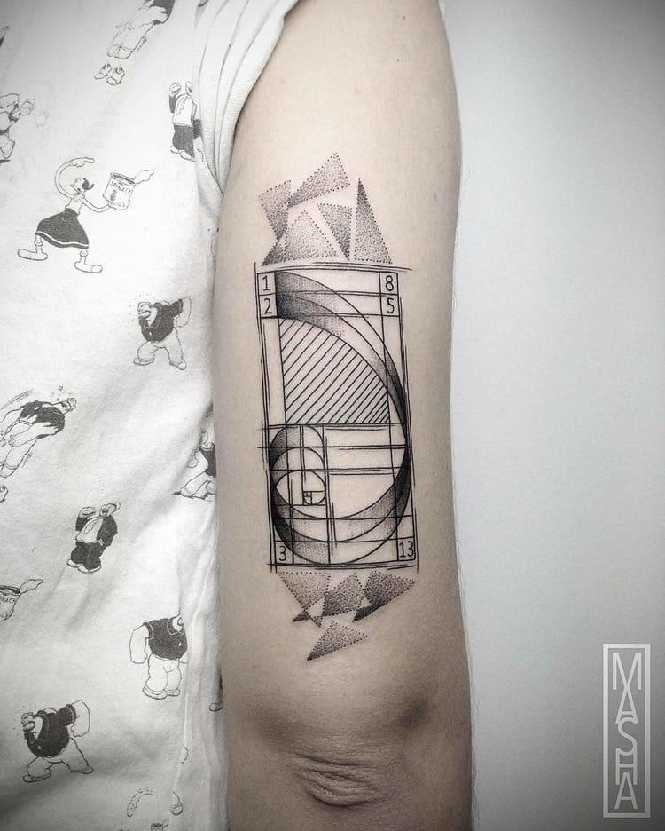 Fibonacci Tattoo by mashatattoo