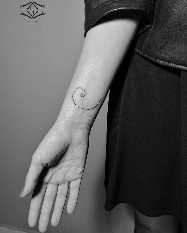Fibonacci Tattoo by ladyb.ink