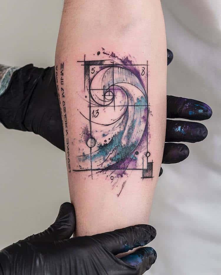 Fibonacci Tattoo by robcarvalhoart