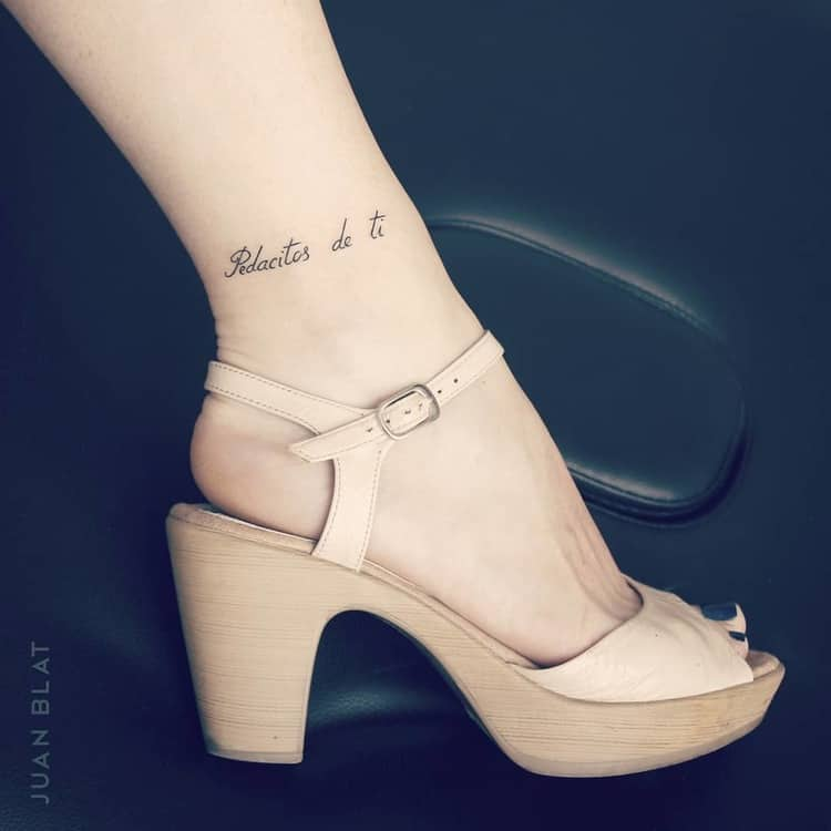 Pedacites de ti Tattoo ON Ankle