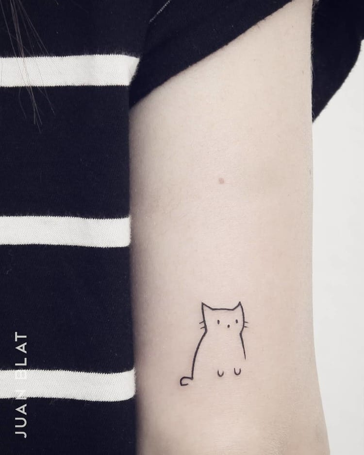 Cat micro arm tattoo