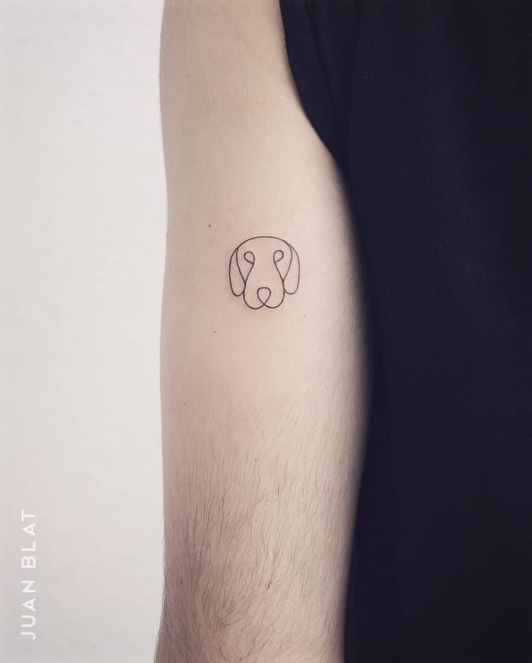 Micro dog tattoo