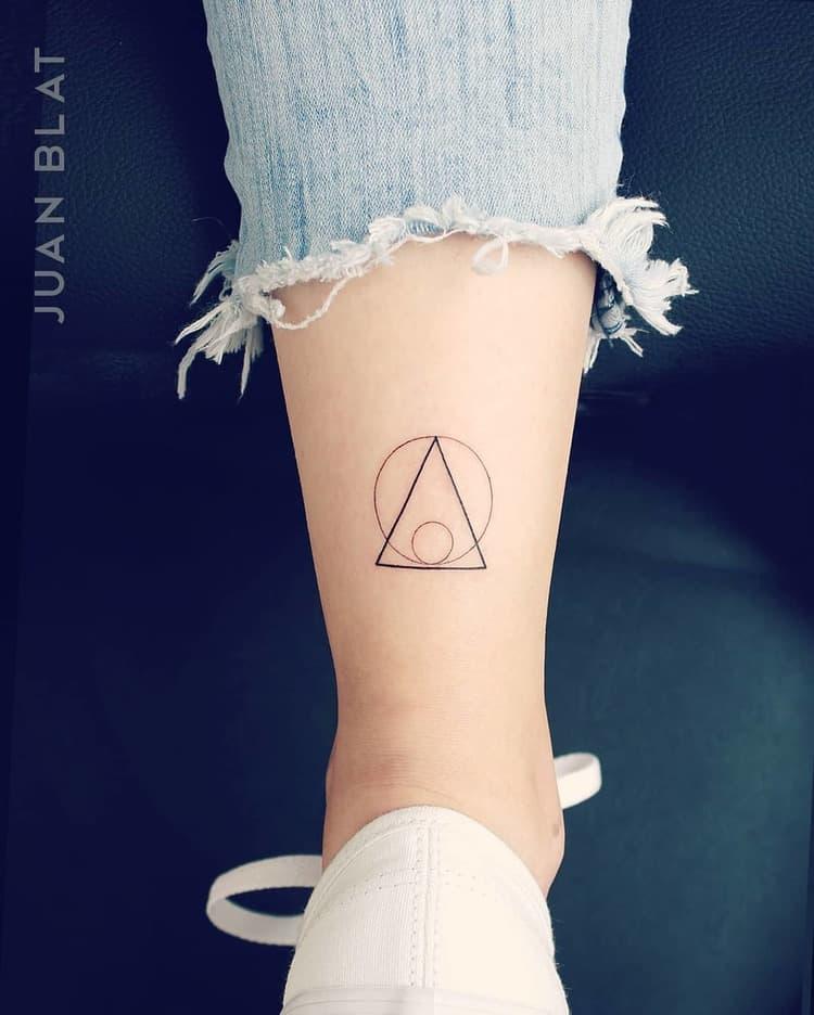 Geometric Triangle micro tattoo