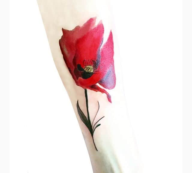 Poppy Tattoo by bestatulevnik