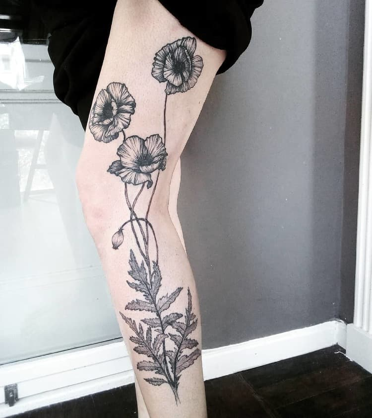 Poppy Tattoo by rosannevanspaendonck