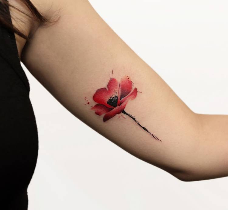 60 Beautiful Poppy Tattoo Designs and Meanings