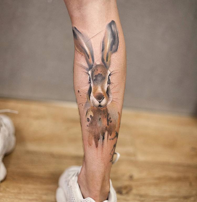 Rabbit Tattoo By Chen Jie
