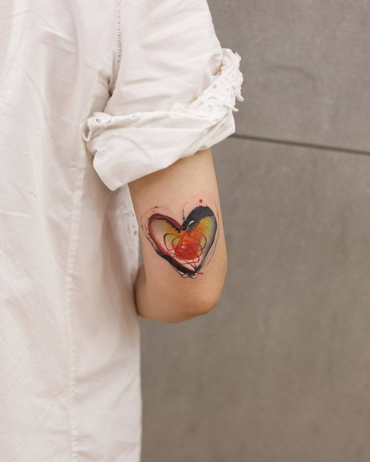 Heart Tattoo By Chen Jie