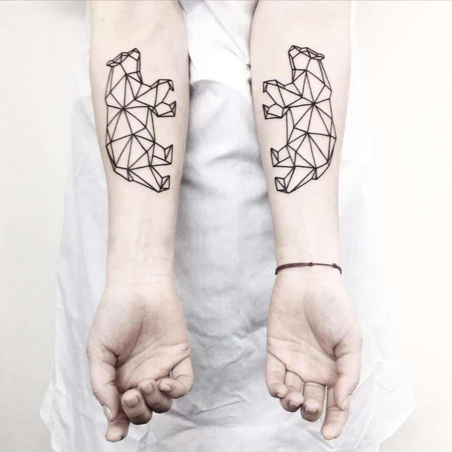 Symmetrical Geometric Tattoos by Malvina Maria Wisniewska